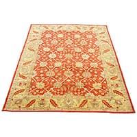 Handmade Herat Oriental Indo Kashan Wool Rug (India) - 8' x 11'