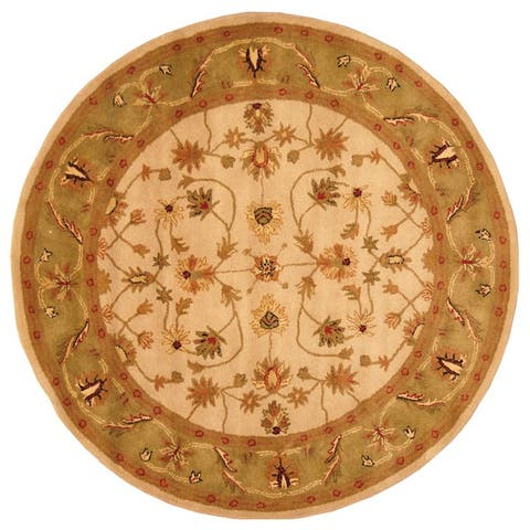 Handmade Mahal Wool Rug (India) - 6' x 6' Round