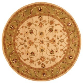 Herat Oriental Indo Hand-tufted Mahal Wool Round Rug (6' x 6')