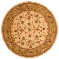 Herat Oriental Indo Hand-tufted Mahal Wool Round Rug (6' x 6') - 6'