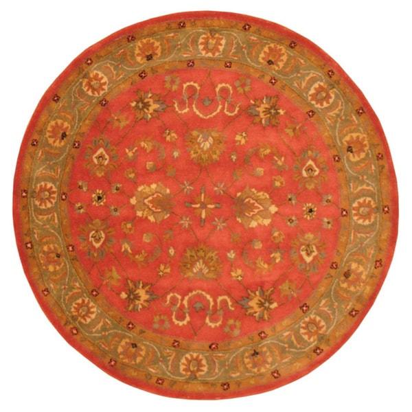 Herat Oriental Indo Hand-tufted Mahal Wool Round Rug (6' x 6')