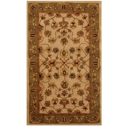 """Handmade Mahal Wool Rug (India) - 3'3"""" x 5'3"""""""
