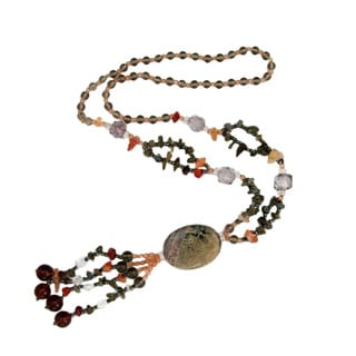 Handmade Jasper/ Smoke Quartz Necklace (China)