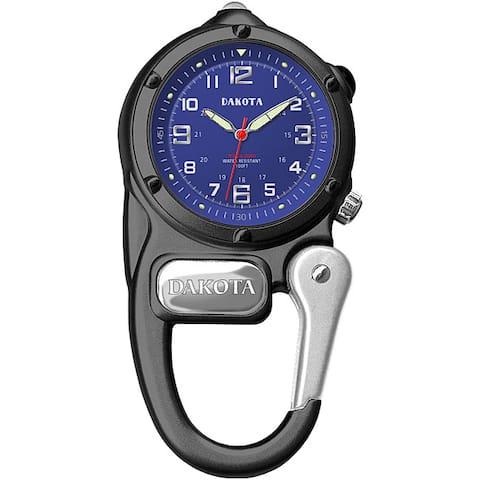 Dakota Men's Mini Clip Microlight Watch - Gunmetal, Blue - Gunmetal