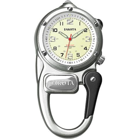 Dakota Men's Water-Resistant Mini-Clip Watch - Silver