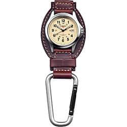Dakota Men's Brown Leather Hanger Carabiner Watch