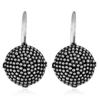 Handmade Sterling Silver Beaded Button Earrings (Indonesia)|https://ak1.ostkcdn.com/images/products/4071353/P12087294.jpg?impolicy=medium