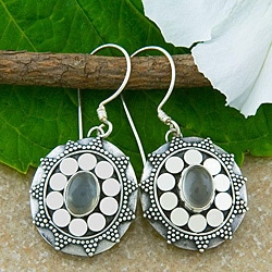 Sterling Silver Moonstone Earrings (Indonesia)