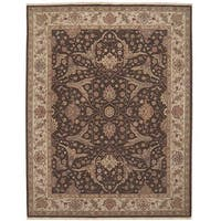 Nourison Hand-knotted Ancestry Brown Wool Rug - 9'9 x 13'9