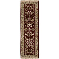 Nourison Hand-knotted Ancestry Red Wool Rug (2'6 x 8')