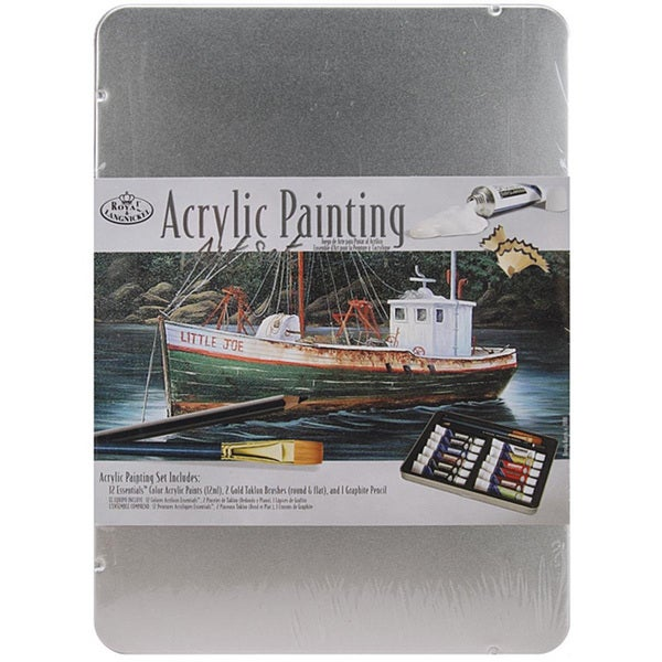Royal Brush Acrylic Painting Art Set with Tin