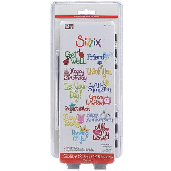 Sizzix Sizzlits Cardmaking Die Set (Pack of 12)