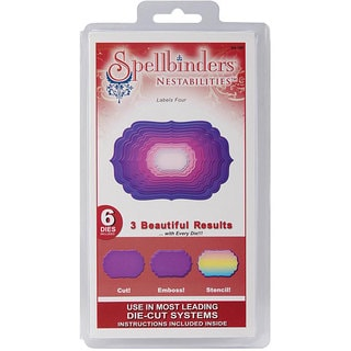 Spellbinders Nestabilities 'Labels 4' Die Set