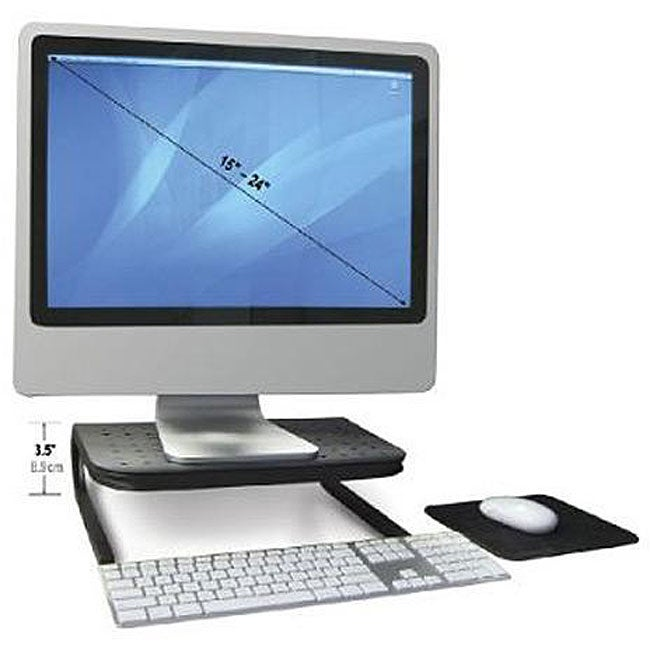 Handstands Vented Platform Stand for Monitor and Laptop with Mouse Pad