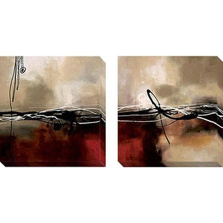 Laurie Maitland 'Symphony in Red and Khaki' Canvas Giclee Art Set