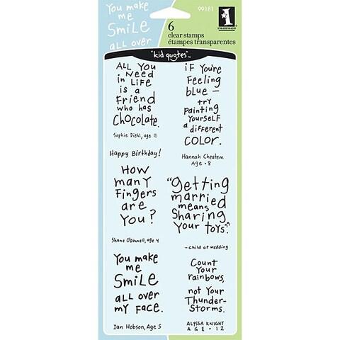 Inkadinkado 'Friendly Advice' Clear Stamps
