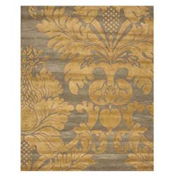 Hand-tufted Wool Blue Transitional Floral Avalon Rug (7'9 x 9'9)