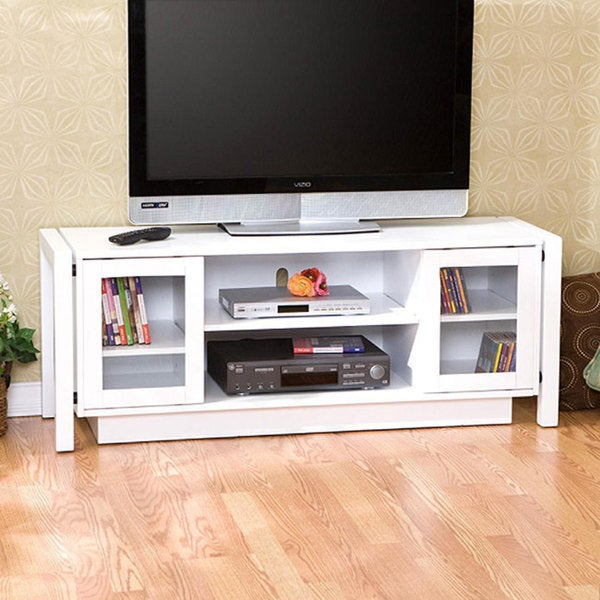 White Tv Stand Media Console Free Shipping Today