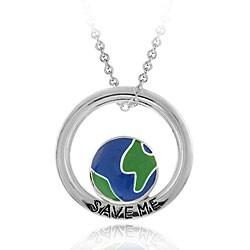 Mondevio Sterling Silver 'Save Me' Necklace