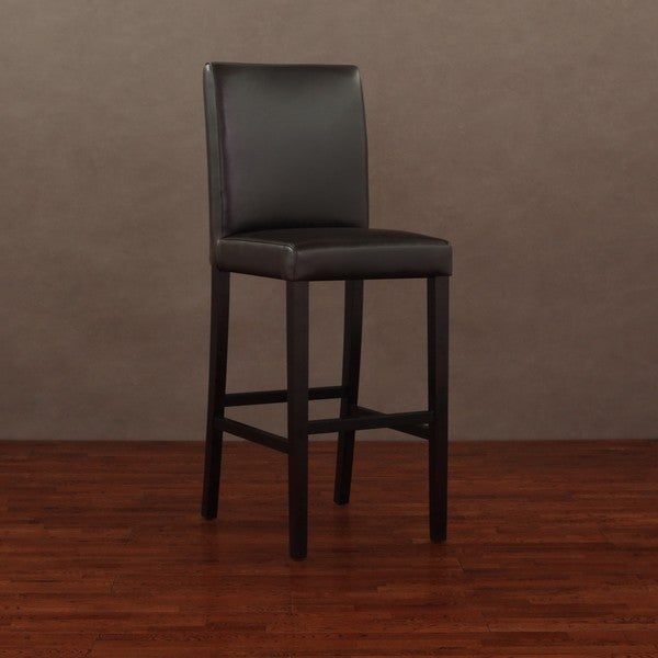 Andre Dark Brown Leather Bar Stool Free Shipping Today