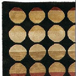 Artist's Loom Hand-knotted Contemporary Geometric Rug (7'9 x 10'6) - Thumbnail 2