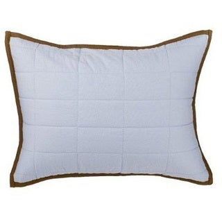 Bacati Metro Blue and Chocolate Quilted Pillow