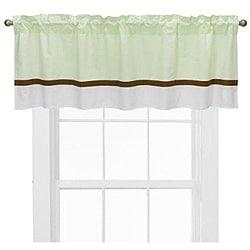 Bacati Metro Lime/ White/ Chocolate Curtain Valance