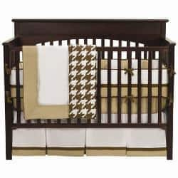 Bacati Metro Chocolate 4 Piece Crib Bedding Set Overstock Com Shopping The Best Deals On Bedding Sets