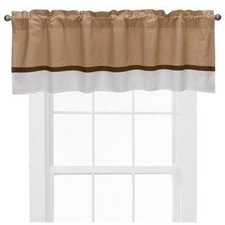 Bacati Metro Khaki/ White/ Chocolate Curtain Valance