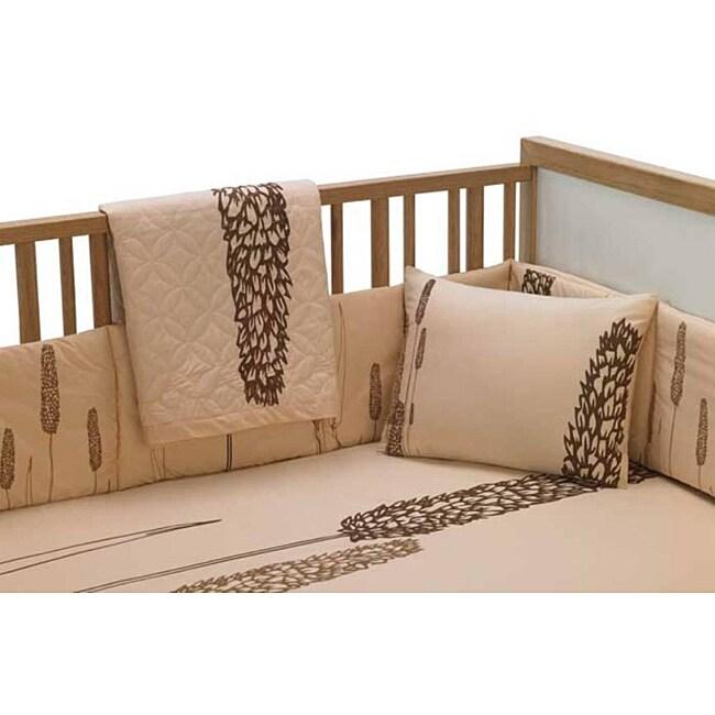 Pea Berry Mocha 6-piece Crib Bedding Set