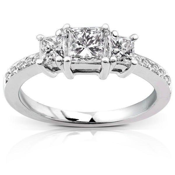 Annello by Kobelli 14k Gold 1ct TDW Princess Diamond Engagement Ring (H-I, I1-I2)