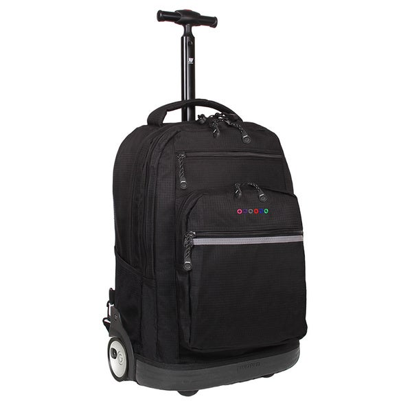 J World Sundace Black Rolling 15-inch Laptop Backpack
