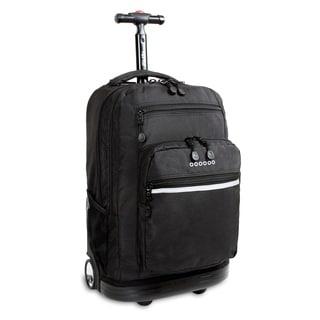 J World Sundace Black Rolling 15-inch Laptop Backpack