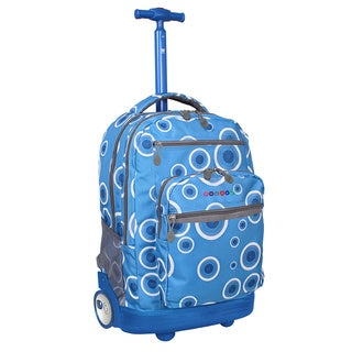 J World Sundace Blue Target Rolling 15-inch Laptop Backpack