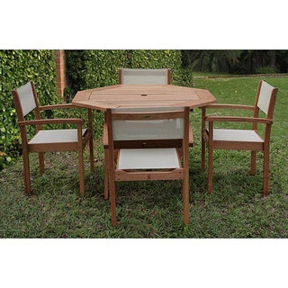 Amazonia Torino Eucalyptus Wood Patio Dining Set