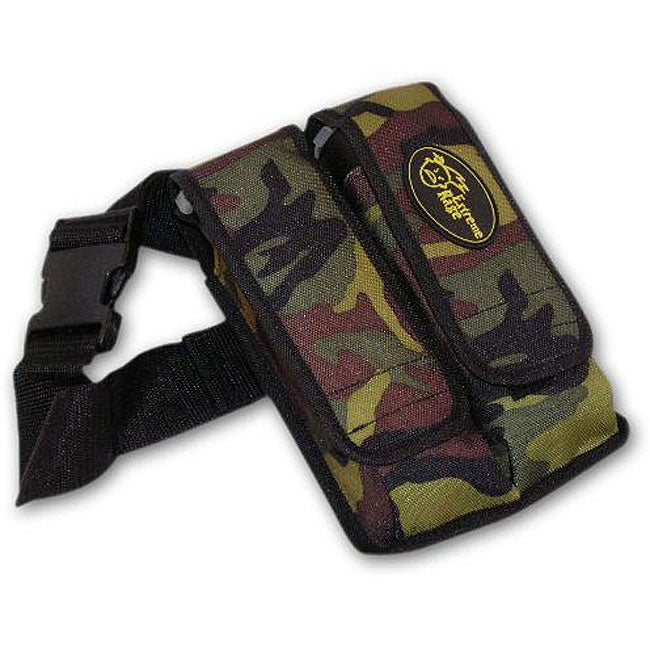 Paintball Camo 2-pocket Pod Pouch with Tubes and Belt