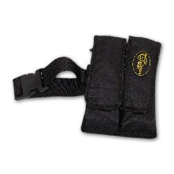 Paintball 2-pocket Black Pod Pouch with Tubes and Belt - Thumbnail 2