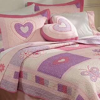 Spring Hearts 3-piece Quilt Set