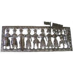 Metal 'Peasant Band' 3D Oil Drum Art (Haiti) - Thumbnail 1