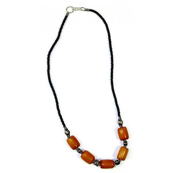 Handmade Tan Beaded Necklace (Kenya)