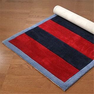 Classic Stripes Navy Rug (5' x 8')