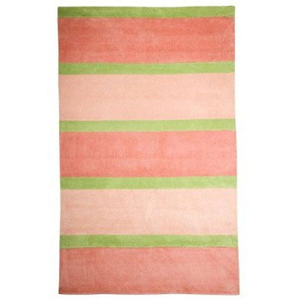 Stripes Rugby Pink Kids Rug 5 X 8 12093879
