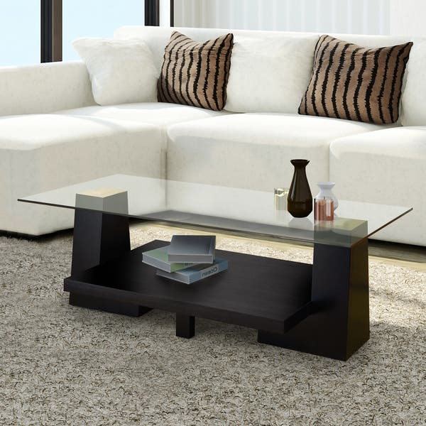 Astounding Shop Contours Modern Black Leveled Wood Coffee Table By Foa Inzonedesignstudio Interior Chair Design Inzonedesignstudiocom
