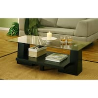 Furniture of America Contours Wood Leveled Coffee Table
