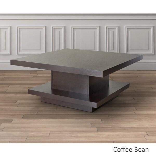 furniture of america wakiaka unique pagoda coffee table - free