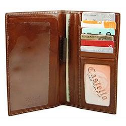 Castello Colombo Checkbook Coat Wallet - Thumbnail 1