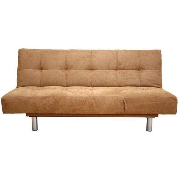 Brown Microfiber Futon Sofa Bed