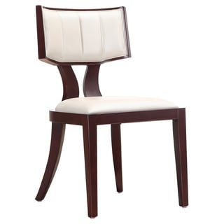 Regency Leather Dining Chairs (Set of 2)