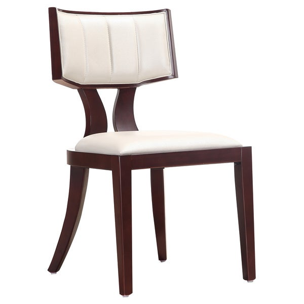 Regency Leather Dining Chairs Set of 2 Free Shipping