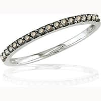 Miadora 10k Gold 1/4ct TDW Champagne Diamond Ring